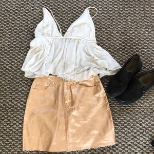 Forever 21 metallic mini skirt | 2